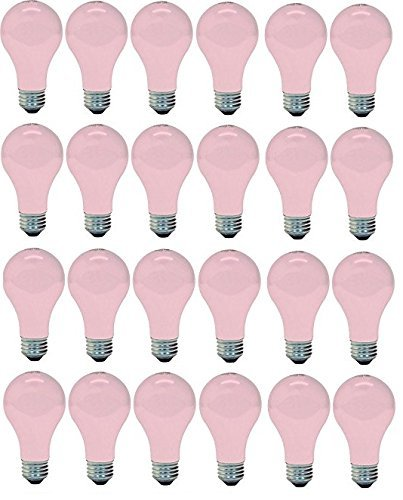 (Ge Lighting 97483 Ge Light Bulb, 60w, Soft Pink (24 Bulbs))
