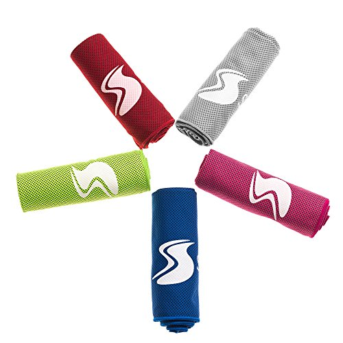 Cooling Towel,Ice Sports Towel,Stay Cool with 40''×12'' Microfiber Towel for All Activities, Keep Cool with Chilly Towel and Use it As Yoga Towel, Fitness Towel, Gym Towel, Golf Towel+Waterproof Bag