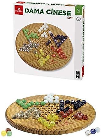 Teodomiro Dal Negro SRL Fábrica de Cartas de Juego DAL Negro China Glass Dama/Scacchi Tria Juego de Mesa Juguete 307, Multicolor, 822068: Amazon.es: Juguetes y juegos