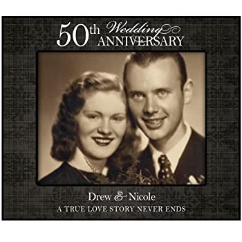 Personalized 50th Wedding Anniversary Photo Frame (A True Love Story) for Wall or Desktop (50th Wedding Anniversary)