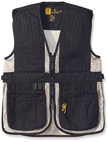 Browning Junior Trapper Creek Vest, Black/Tan, Large