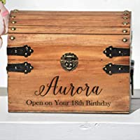 Baby Time Capsule 1st Birthday Container Newborn Keepsake Box Personalized for Boy or Girl Memory Box Boho Shower Gift for Mom Custom Engraved Treasure Chest