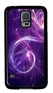 Samsung Galaxy S5 The Powder Purple Abstract Art PC Custom Samsung Galaxy S5 Case Cover Black
