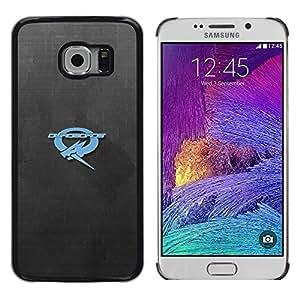 EJOY---Cubierta de la caja de protección la piel dura para el / Samsung Galaxy S6 EDGE / --Ouroboros