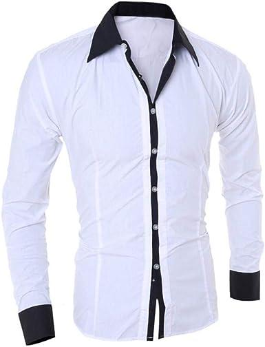 Camisa De Manga Larga para Hombre Blusa De Hombre Joven Ropa Top De Moda para Hombre Camisa De Oficina para Hombre Slim Fit Tops De Hombre: Amazon.es: Ropa y accesorios