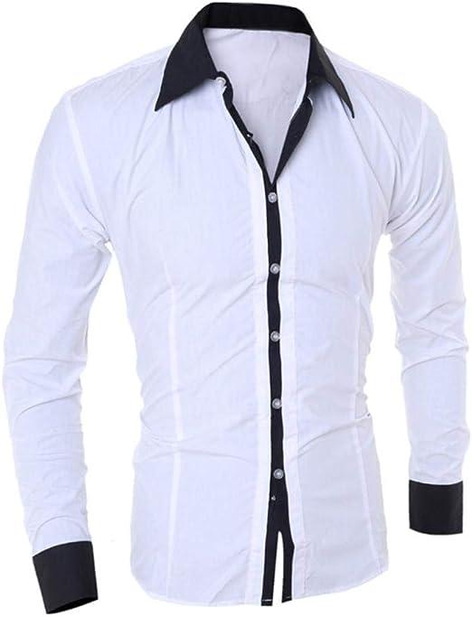 Camisa De Manga Larga para Hombre Joven Blusa Hombre De Ropa Top De Moda para Hombre Camisa De Oficina para Hombre Slim Fit Tops De Hombre: Amazon.es: Ropa y accesorios