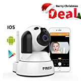 #9: FREDI Wireless Camera Baby Monitor 720P HD Wireless Security Camera With Two-Way Talking,Infrared Night Vision,Pan Tilt,P2P Wps Ir-Cut Nanny ip Camera Motion Detection