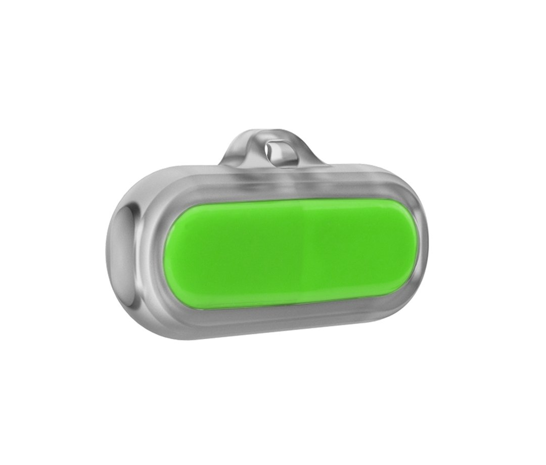 Poof Bean Pet Activity Tracker, Lime