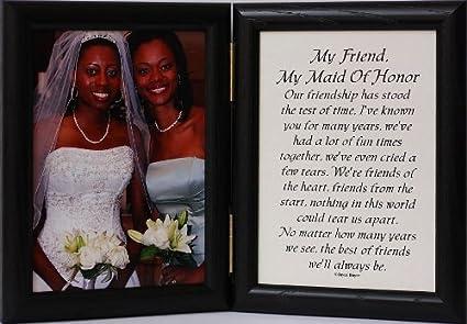 amazon com 5x7 hinged my friend my maid of honor poem black