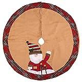 millet16zjh 105cm Cute Santa Claus Snowman Christmas Tree Skirt Apron Home Party Decoration Santa Claus