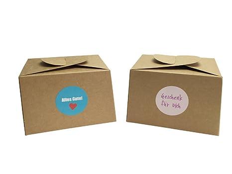 EAST-WEST Trading GmbH - Juego de 12 cajas de cartón natural,