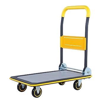 Fkdebag Carrito de Compras Carro Grande Carro de Compras Carro de Equipaje Camión de Plataforma 150kg Capacidad de Carga Producción de Acero Laminado para ...