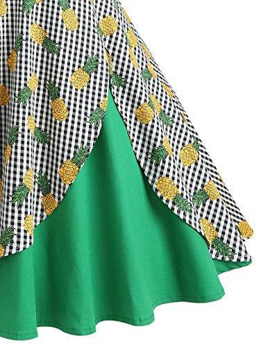 Hepburn Grande Ananas Babyonlinedress Cocktail Taille Licou Audrey Robe Rtro Swing Vintage Soire Impression 1950 de Rockabilly par anne BnOxqwCv