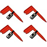 IIT 30390 1 Plastic Claim-It Stake For Beach Picnic Camping Towels Blankets Tarps (4 Pack)