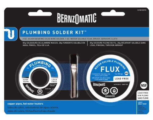 Bernzomatic Ssws300pk All In One Plumbing Solder Kit