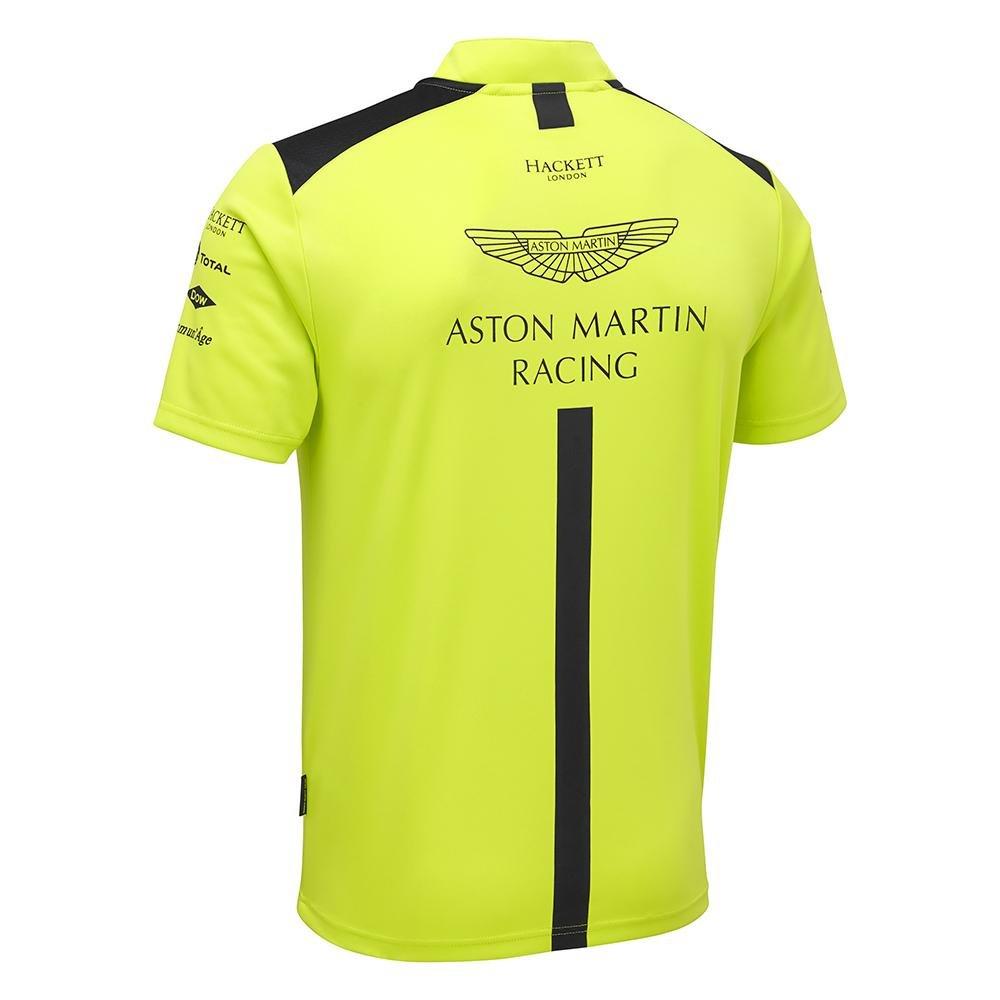 Aston Martin Racing Team Polo da Uomo Verde Lime da Uomo