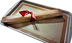 Non-stick Silicone Baking Mats Are a Healthy, Easy to Clean, Time-saving Alternative to Parchment, Foil, Fat or Grease. Freezer, Microwave, and Oven-safe.