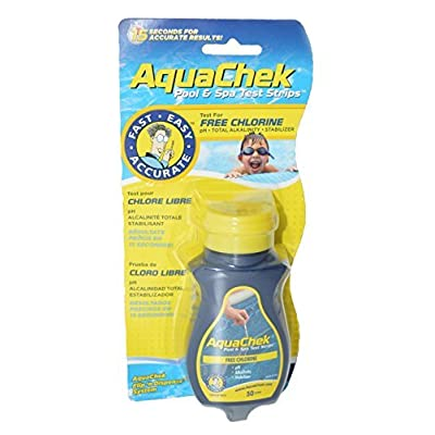 Aqua Chek Aqua Chek Yellow Test Strips Free Chlorine, 50 Strips, 1-Pack : Swimming Pool Testing Strips : Garden & Outdoor