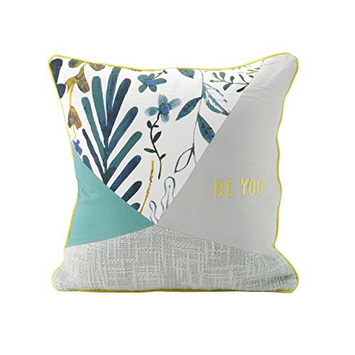 """Hallmark Home Patchwork Pillow 14"""" Square, """"Be You"""""""