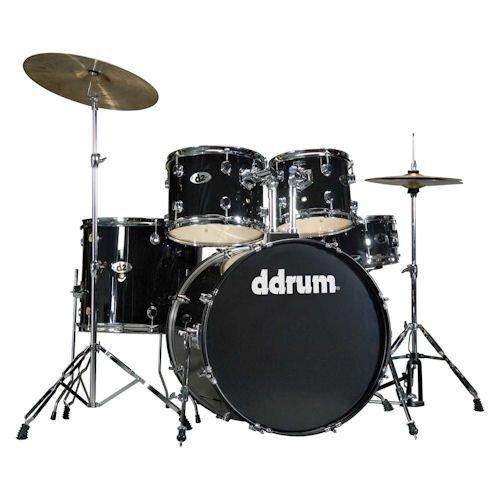 dDrum D2 Beginner 5 Piece Drum Set Midnight ()