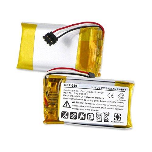 Logitech N-R0044 Wireless Mouse Battery (Li-Pol 3.7V 240 mAh ) - Replacement For Logitech 533-000071 Cordless Phone - Cordless Empire Phone Batteries