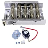 279838+279816 Dryer Heating Element and Thermostat Kit Pack Compatible With Whirlpool and Kenmore Dryers