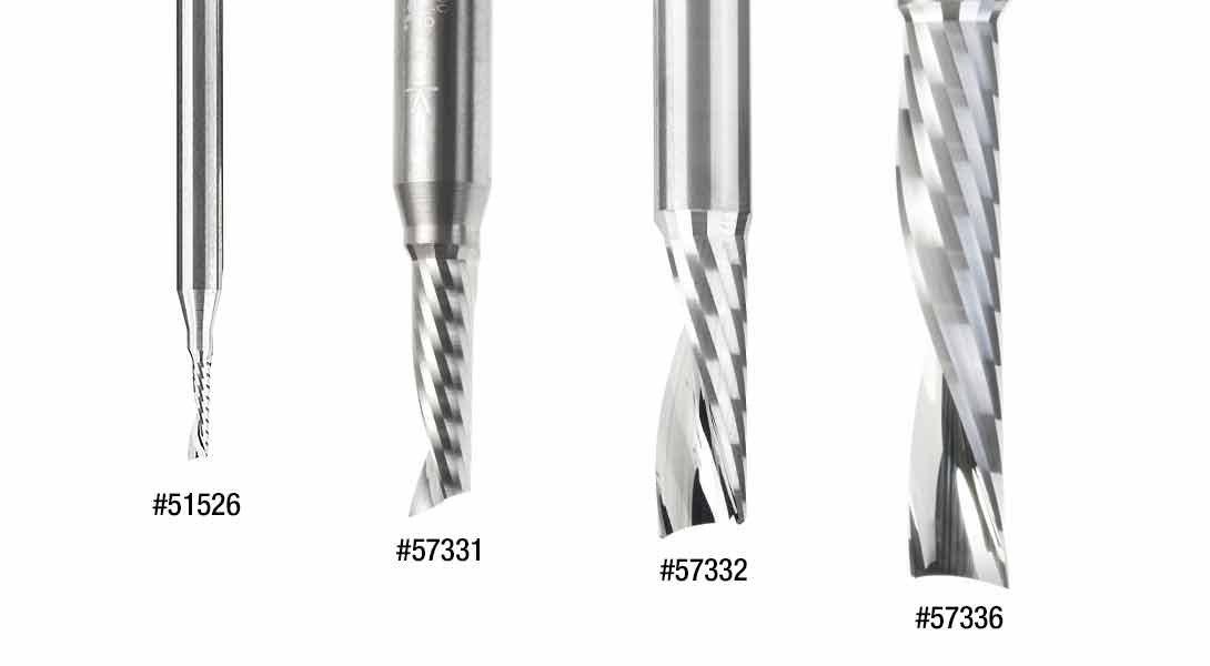 Amana Tool 51526 Metric SC Spiral O Single Flute Plastic Cutting 3 D x 12 CH x 6 SHK x 50mm Long Down-Cut CNC Router Bit with Mirror Finish