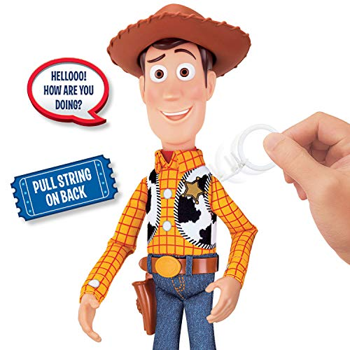 Toy Story 4 Sheriff Woody Deluxe Pull-String Action Figure (Walmart Exclusive)