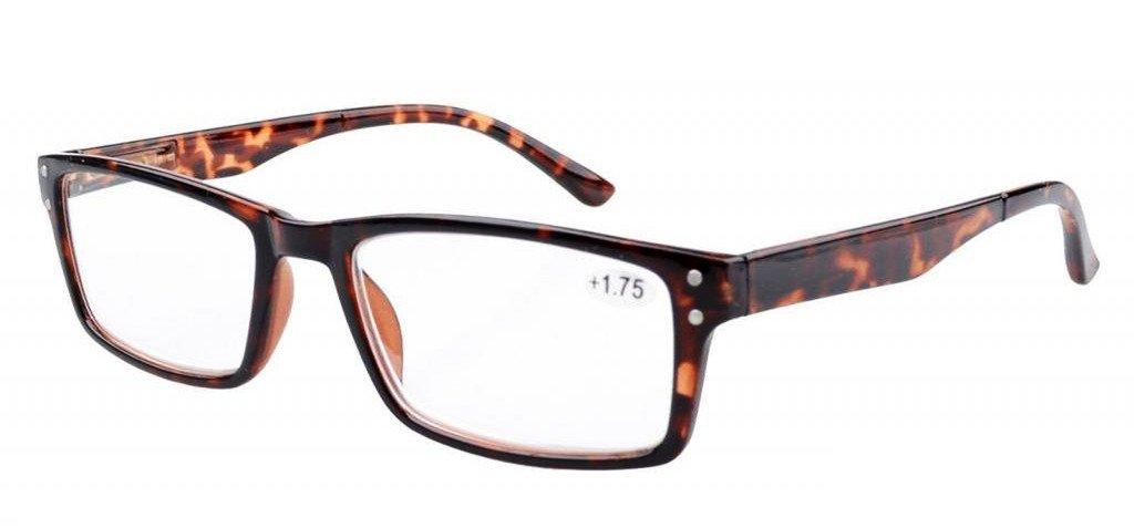 Eyekepper resorte de la bisagra de estilo retro de los vidrios de lectura, Tortuga +2.5