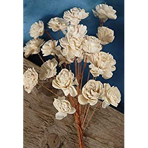 "Richland Sola Flowers 12"" Bouquet 20-1"" Flowers on Wired Stems 98"
