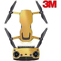 SopiGuard 3M Gloss Gold Precision Edge-to-Edge Coverage Vinyl Sticker Skin Controller 3 x Battery Wraps for DJI Mavic Air