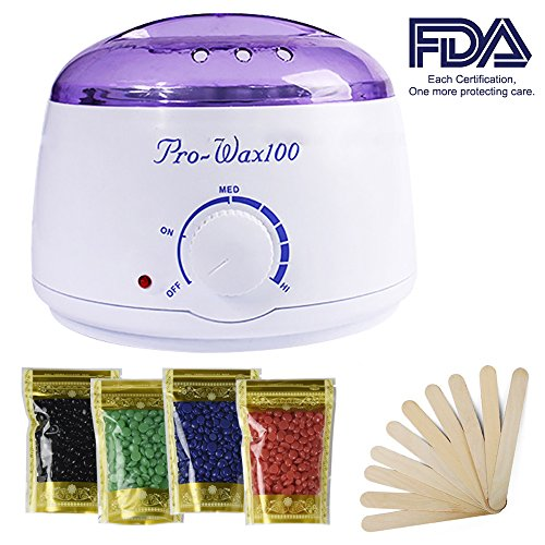 Arm Drop Kit (Wax Warmer, Portable Electric Hair Removal Kit for Facial &Bikini Area& Armpit-- Melting Pot Hot Wax Heater accessories Total Body Waxing Spa or Self-waxing Spa in Home For Girls & Women & Men)