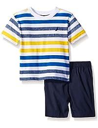 Baby Boys' 2 Piece Stripe Tee Shirt Set