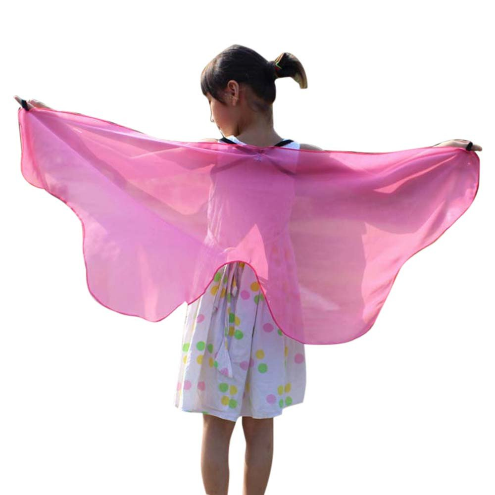NUWFOR Christmas Dresses for Women, Soft Fabric Butterfly Wings Shawl Fairy Ladies Nymph Pixie Costume Accessory?Pink?One Size?