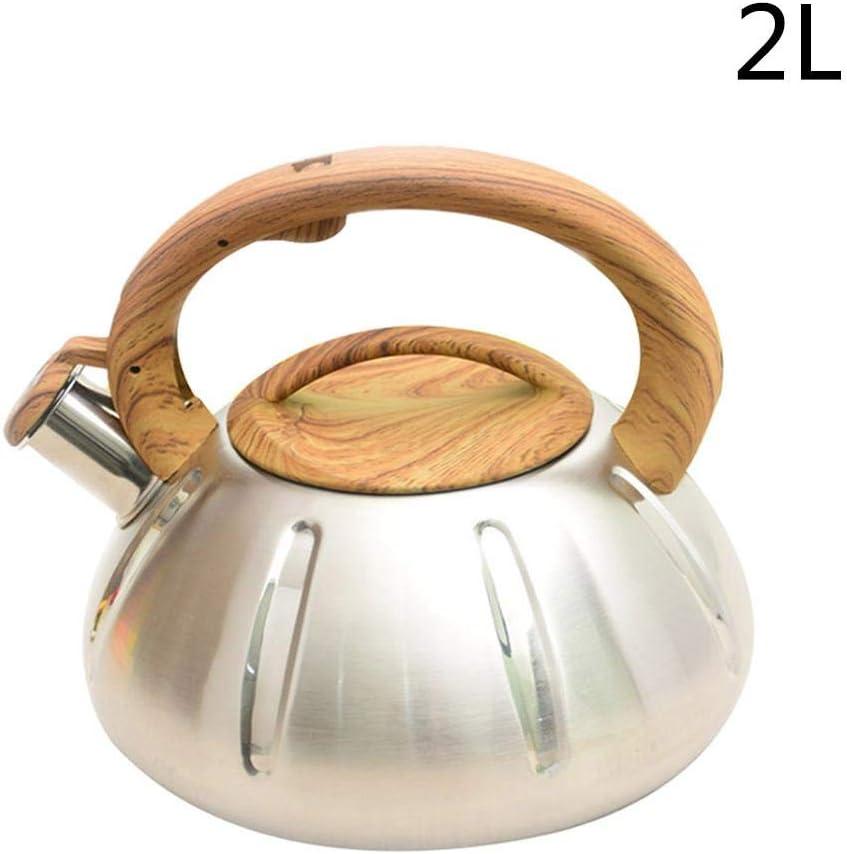 Wasserkessel Wasserkocher Teekessel Pfeifenkessel Mit Anti-Hot-Holzgriff F/ür Alle W/ärmequellen Induktion//Gasherd Exuberanter 2//3L Fl/ötenkessel Pfeifkessel Edelstahl