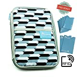 Travel Document Holder Family Organizer Passport Wallet Bonus 8 RFID Blocking Sleeves