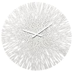 koziol SILK Wall Clock,  Cotton White