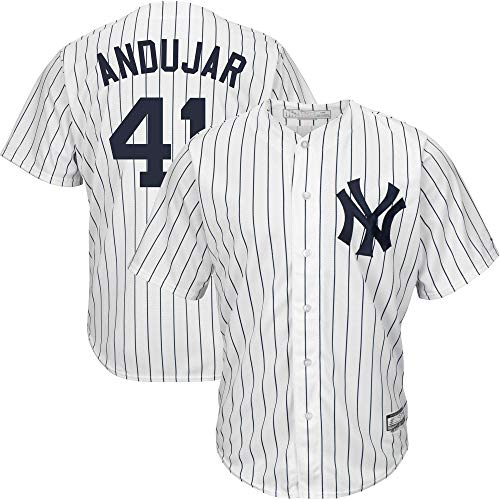 Men's/Women's/Youth Miguel_Andujar_#41_Yankees Home New York Cool Base Replica Player Jersey XL White