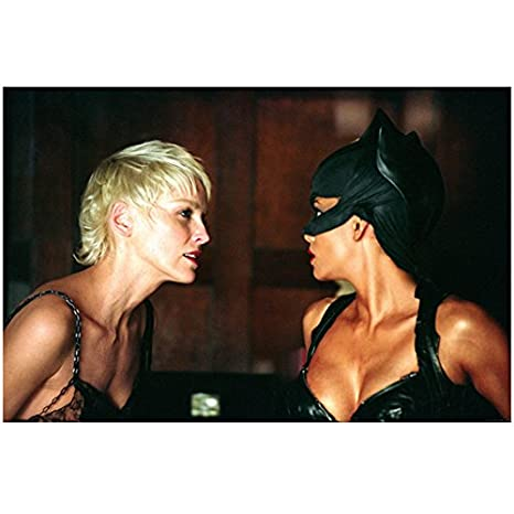 Catwoman Sharon Stone Looking At Halle Berry With Intent 8 X