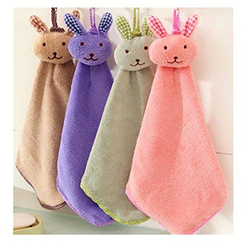 Soft Absorbent Fast-Dry ChenilleKids Children Cartoon Absorbent Hand Dry Towel by Qisc (Random - That Wear Cartoons Glasses