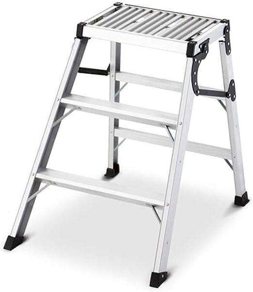Zbm-zbm Escalera Trapezoidal, Plataforma De Plataforma Portátil Plegable, Decoración De Lavado De Autos, Mesa De Trabajo, Escalera De Ingeniería Móvil Escalera De Peldaños De Aluminio For El Hogar Tab: Amazon.es: Hogar