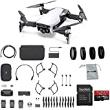 DJI Mavic Air Fly More Combo (Arctic White) Portable Quadcopter Drone with 4-Pack Lens Filter Set, Additional Memory Card and More
