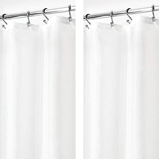 """Fabric Shower Curtain 36X72"""" Mildew Resistant Washable Water Repellent Spa Bath"""