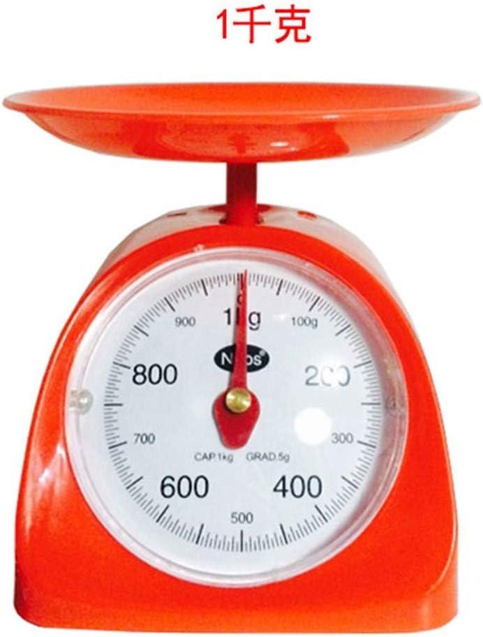 CYDKZMEPA 500 g de máquinas de Cocina balanza de Cocina Antigua Mesa de café mecánica Llamada Bandeja balanza Puntero Balance Dicho gramo Peso Escala 1kg, Color Aleatorio Redondo Cocina 1kg: Amazon.es