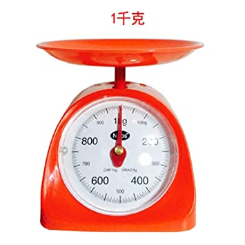 CYDKZMEPA 500 g de máquinas de Cocina balanza de Cocina Antigua Mesa de café mecánica Llamada Bandeja balanza Puntero Balance Dicho gramo Peso Escala 1kg, ...