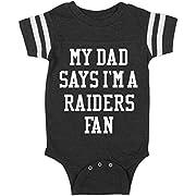 Funny My Dad Says I'm A Raiders Fan: Infant Rabbit Skins Football Bodysuit