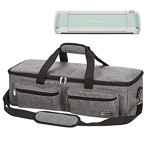HOMEST Craft Machine Carrying Case Tote Bag Cricut Accessories, Storage for Cricut Explore Air 2, Cricut Maker, Silhouette Cameo3, Grey