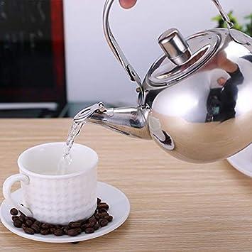 // 2L Tetera de Acero Inoxidable Cafetera Hervidor con Hoja de t/é Infusor Filtro Cafetera Juego de t/é Kung Fu de Gran Capacidad Color : 15L XIAOXINGXING 1//1.5