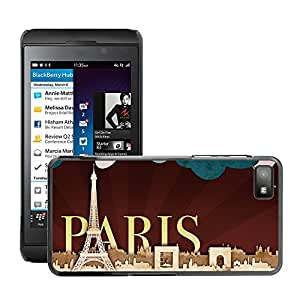 Super Stellar Slim PC Hard Case Cover Skin Armor Shell Protection // M00048638 paris aero creative // BlackBerry Z10