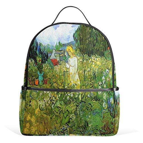 - Van Gogh Marguerite Gachet in the Garden School Shoulder Backpack For Teen Boys Girls